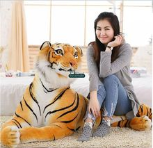 Dorimytrader 170cm Jumbo Domineering Animal Tiger Plush Toy Soft Stuffed 67'' Large Emulational Tigers Decoration Gift DY60638