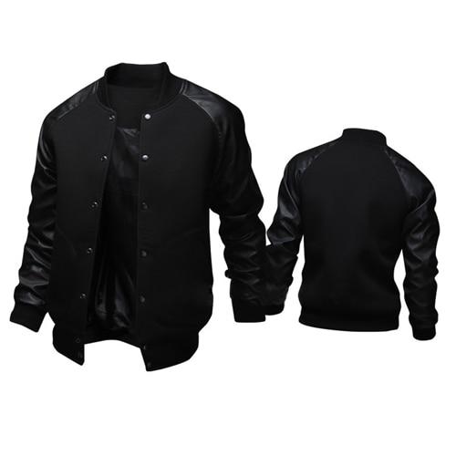 Fashion Men Jacket Autumn 2017 Cotton Bomber Jackets Long Sleeve Stylish Male Button raglan pocket Off White 2XL Windbreaker