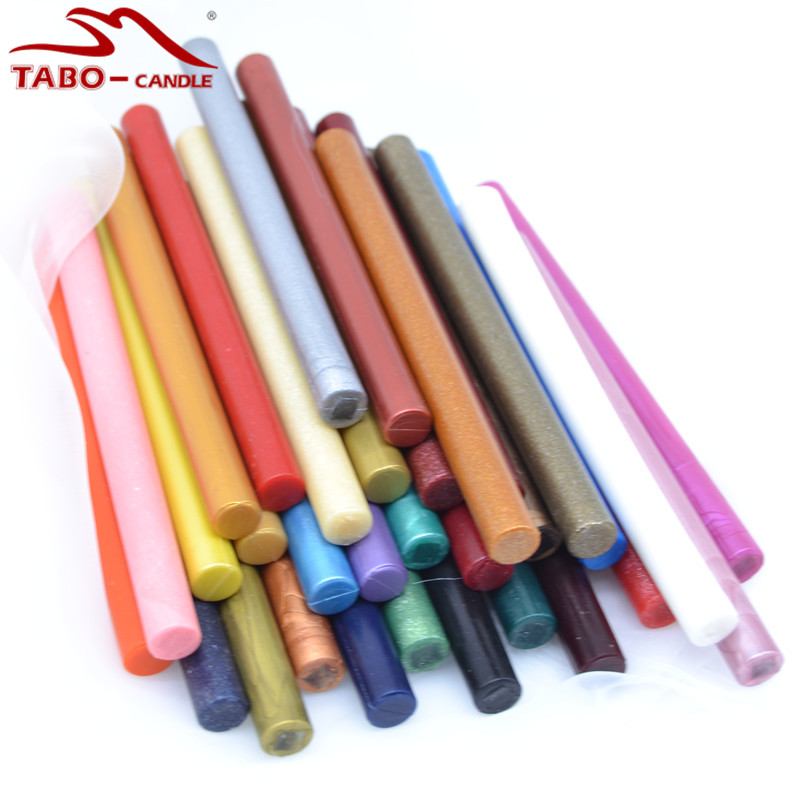 Colorful Rod Sealing Wax Stick Set - 32 Pack Smokeless Odorless Stick for DIY Sealing Stamp Envelope Letter Decorative<br>