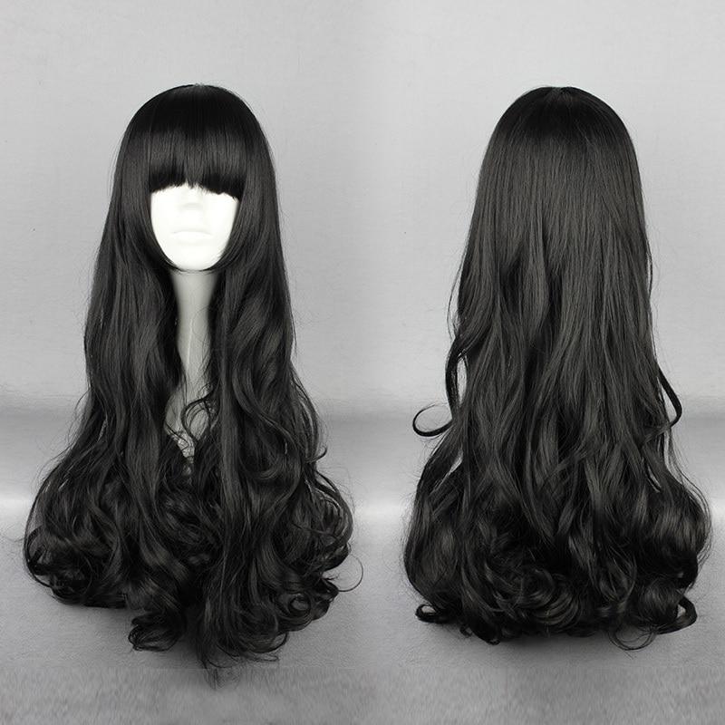 MCOSER Free Shipping Rwby Blake Belladonna Black 70cm Long Wavy High Quality Synthetic Fashion Anime Women Cosplay Wig<br><br>Aliexpress