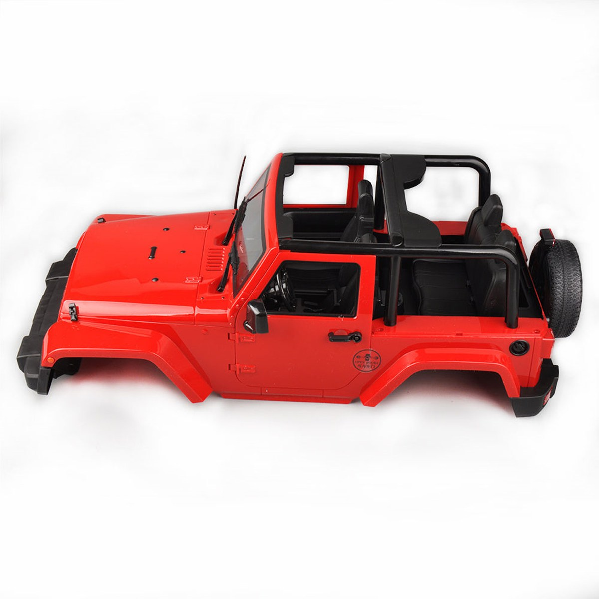 Hard Body Shell Canopy J eep RC 1/10 SCX10/D90 Rock CRAWLER Truck Red<br>