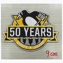 2017 NHL Pittsburgh Penguins 50th Anniversary Official Hockey Game Jersey Patch(China)