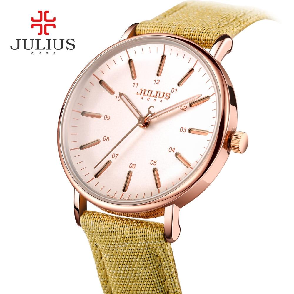 Watch Women JULIUS Brand Luxury Fashion Casual Quartz Unique Stylish Hollow Skeleton Watches Nylon Sport Lady Wristwatches Clock<br>