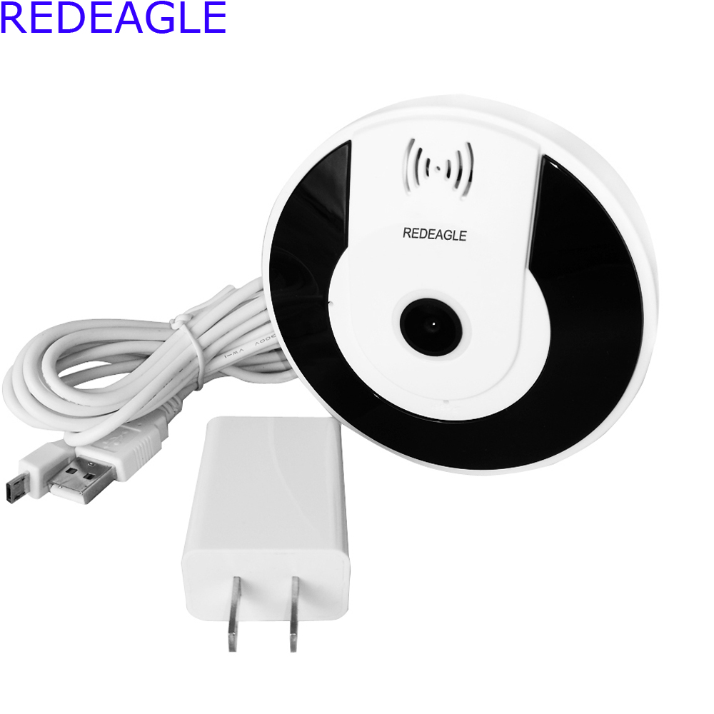 REDEAGLE Mini 3D Wifi IP Camera 360 Degree Camera IP 5MP Fisheye Panoramic 1080P WI-FI Wireless Video Cameras<br>