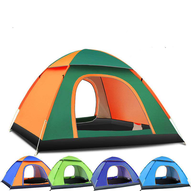 200 * 200 * 130CM Beach Tent Outdoor Automatic Speed Open 3-4 Rain And Sun Throwing Hand Fast Open Camping Tent(China (Mainland))