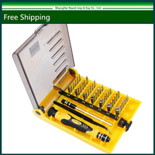New Original Brand 45 in 1 Precision Screwdriver Cell Phone Repair Tool Set Kitchen Garden MIni Magnetic tools Kit JK 6089-A(China)