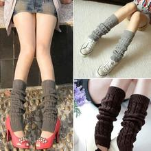 2016 Love Winter Women's Knitting Sleeve Socks Girl's Knit Crochet Boot Cuffs Leg Warmers Gaiters 4 Colors big discount(China)