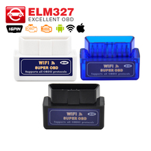 High quality A+ ELM 327 WIFI V1.5 OBDII/OBD2 Auto Scanner Tool Support Android & IOS System ELM327 Wifi Support OBD II Protocols