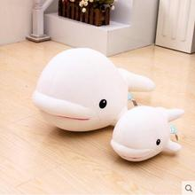 New Arrival 1pcs 30cm/50cm Nanoparticel Soft Toys White Whale Sea Fish Toy Kid's Birthday toys