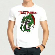 Free Shipping Rock Band Deep purple T-Shirt Short Sleeve Teenages Ian Gillan Top Tees Shirt