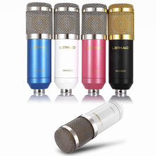 Original Professional LEIHAO BM-800 bm800 Condenser Sound Recording Microphone with Shock Mount for Radio Braodcasting Singing(China)