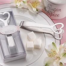 1PCS With Packing Case New Arrivals Cut Love Heart Gift Stainless Steel Sugar Tongs Heart-shaped Sugars Clip Wedding Party Favor