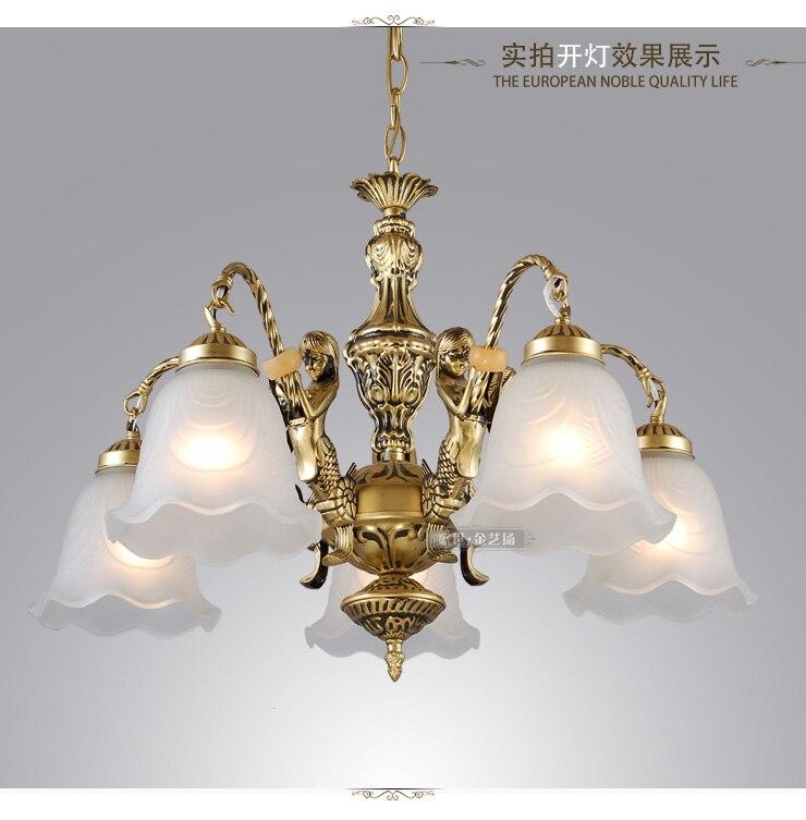 Kronleuchter Mode Klassische Bronze Farbe Antike Vintage Beleuchtung Zinnen  Wohnzimmer Kronleuchter Studie Licht(China (