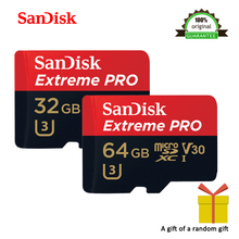 SanDisk Extreme Pro 64GB 32GB microSDXC UHS-I Memory Card micro SD Card 32GB microSDHC TF 95MB/s Class10 U3 With SD Adapter