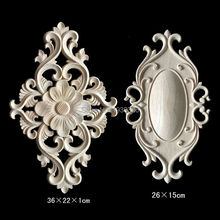Irregular Furniture Decorative Applique Wood Carving Crafts Flower Carved Boards New Year Home Decor Wooden Plaque & Sign Plates(China)