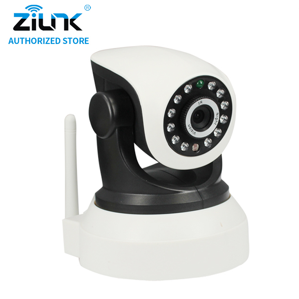 ZILNK 720P WiFi  IP Camera Wireless Smart Home Security Two way audio HD Night Vision Baby Monitor Support TF Card Onvif White<br>