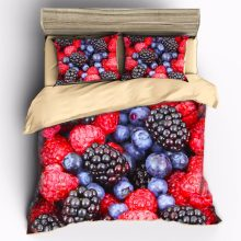 AHSNME High-precision high-color printing Blueberry variety of fruit Bedding Sets Duvet Cover pillowcase set(China)