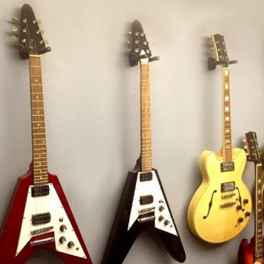 Guitar Hanger Stand Holder Wall Mount Display Rack Foam Coated Adjustable Hanger Universal for Acoustic Electric Guitar
