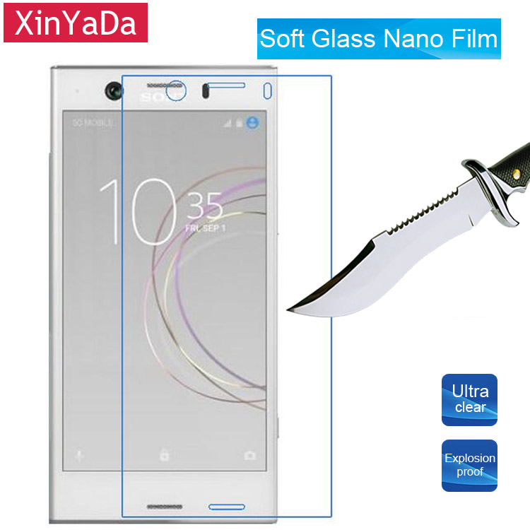 Xinyada Soft Nano Explosion proof Screen Protector Sony Xperia XZ1 / XZ1 Compact Mini Guard Film  (Tempered Glass )