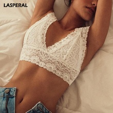 Buy LASPERAL Sexy Seamless Women Lace Bralette Push Intimates Bras Crop Top 3XL Sexy Bra Women Lingerie Unlined Transparent