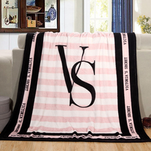 Kint Throw Blankets Pink VS Secret Blanket Manta Coral Flannel Blanket Sofa/Couch Bed/Plane Travel Plaids Victoria TV Blanket(China)