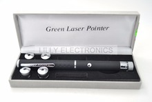 532nm 20mw 5 in 1 Green Laser Pointer Pen w/5 kinds of Star Pattenrs