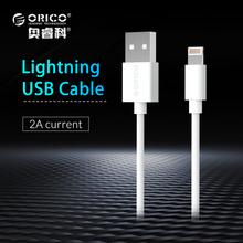ORICO Premium Cable for iPhone Lightning to USB Cable Charging USB Cable Sync for iPhone 6 7 8 White 1m(China)