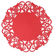 6 Pcs mixed colors Lace Flower Doilies Silicone Coaster Tea Cup Mats Pad Insulation board Placemat