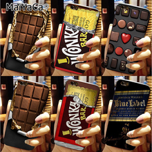 MaiYaCa Colorful Phone Accessories Willy Wonka Bar With Golden Ticket Sweet Chocolate Bar For iPhone 6 6s Case(China)