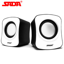 SADA V-182 Quality Portable Mini Surround Stereo Bass USB Subwoofer Computer Speaker PC Samrt Phone Speakers for Notebook Laptop