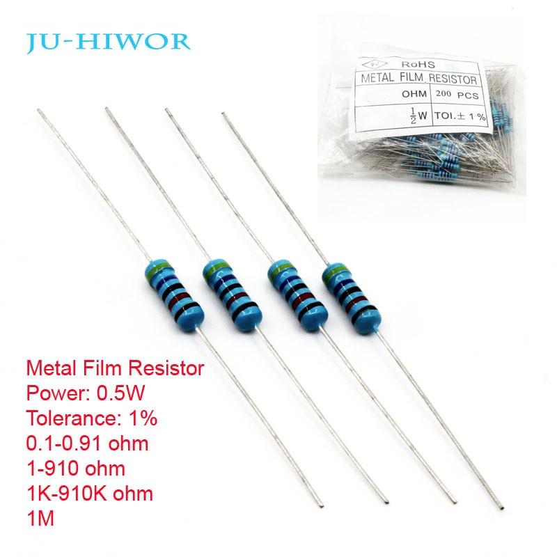 3W Power Metal Film Resistor TOL ±1/% 0.1 Ohm to 910 Ohm Brand New