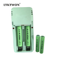 4pcs/lot Original Ni-MH AAAA 1.2V 600mAh Rechargeable Battery + 2 slot AA/AAA/AAAA battery charger Free Shipping