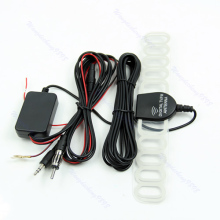 New Hot Auto 12V Amplified Booster 35DBi Car Digital TV And AM/FM Radio Box Antenna Drop Shipping