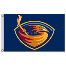 NHL Atlanta Thrashers Flag 3x5 FT 150X90CM Banner 100D Polyester flag, free shipping(China)