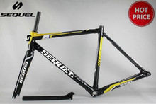 carbon bike frame Sequel glossy t800 carbon road bike BSA 3k accept customized paint matte & glossy high quality(China)