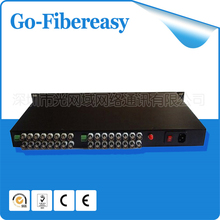 2pcs/lot 100% New CCTV 32Channels Fiber optic Video Multiplexer 19 inch 1U Rack 32CH Video to Fiber SM FC 20km Optical Video(China)