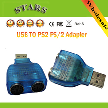 Mini USB to PS2 PS/2 Converter Splitter Adapter For PC keyboard Mouse,Wholesale Free Shipping Dropshipping(China)