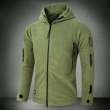 Tactical Jacket Military Uniform Soft Shell Fleece Hooded Winter Jacket Men Thermal Army Clothing Casual Hoodies(China)