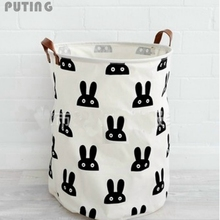 Beige Zakka Large Cartoon Storage Bag Canvas kid Laundry Bags Children Baby Play Mat Toys Clothes Organizer Home Decor XHH8141