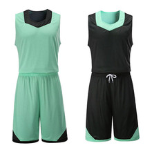 Men`s Reversible Basketball Jersey Set  Double Sided  Big Size 5XL High Quality Reversible Suit Shirt Custom Uniform Wear Summer