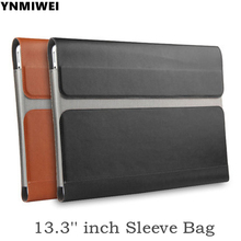 Laptop sleeve For macbook air pro 13 case ultra thin laptop bag For Xiaomi Mi Notebook Air 13.3 inch pu leather case liner bag(China)