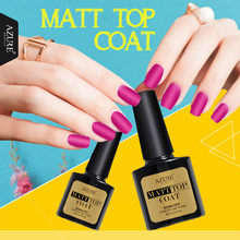 Azure Beauty Matte Top Coat UV Nail Gel Polish Long Lasting Top Coat UV Gel Nails Varnish Soak Off Matt Top Led Lamp Nail Glue(China)
