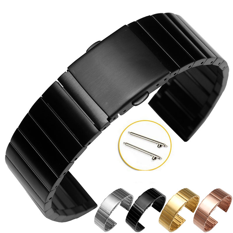 22mm Quick Release Watch Band for LG G Watch W100 W110 Urbane W150 Asus Zenwatch 1 2 Pebble Time Stainless Steel Strap Bracelet<br><br>Aliexpress