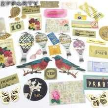 ZFPARTY Enjoy Today Vintage Vellum Paper Die Cut Stickers for DIY Scrapbooking/Planner/Card Making Projects