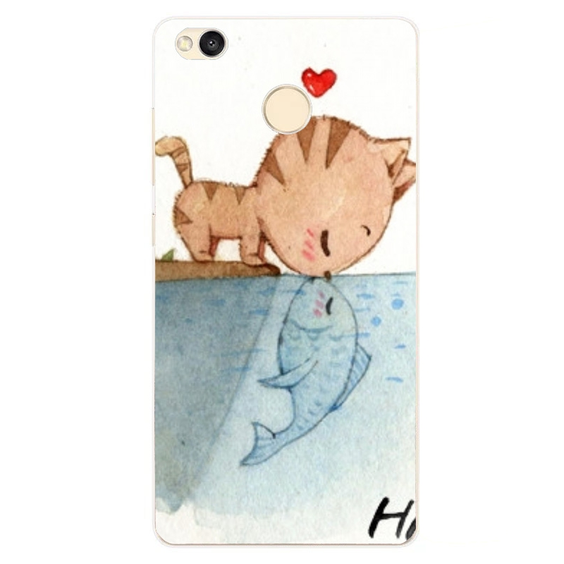 Fashion Cartoon Cat Painting TPU Cover Phone Case for Xiaomi Redmi 4 Pro (6)