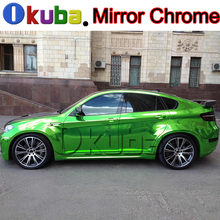 High Stretched Green Chrome Vinyl Car Styling Wrapping Film for Vehicle Mirror Chrome Decal Sheet Covers 20m/roll(China)