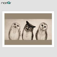 Canvas Painting HD Printed The Owl Art Print Painting Pictures on Canvas Decorative Wall Art Work No Frame(China)