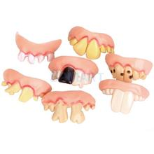 5Pcs Funny Gift Costume Party Ugly Gag Fake Teeth Free Shipping(China)