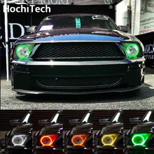 For Ford Mustang RGB LED headlight halo angel eyes kit car styling accessories 2005 2006 2007 2008 2009
