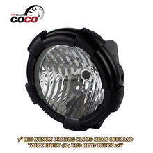 7 INCH 12V DC 35W HID XENON 4x4 SUV 4WD Truck ATV Boat Motorcycle FOG DRIVING Lamp road light Flood OFFROAD WORK LIGHT